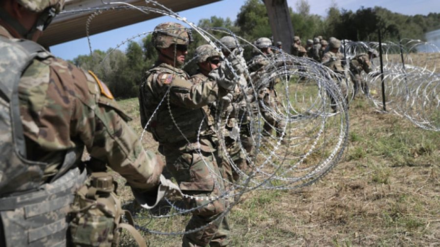 Military reinforces border